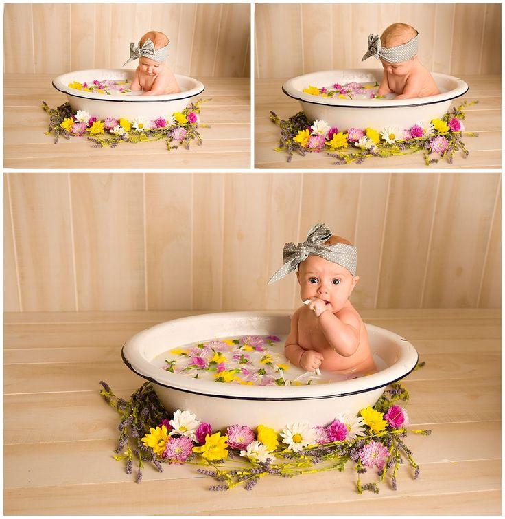 Charlie // 7 months // milk bath session // liberty Missouri baby photographer
