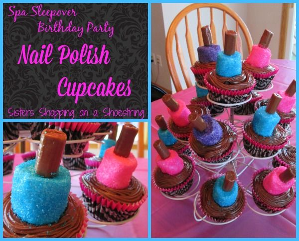 These Marshmallow Nail Polish Cupcakes were the perfect treat for my daughter's Spa Sleepover! Easy and OH, so PRETTY!