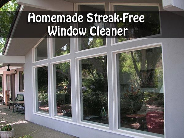 Homemade Streak-Free Window Cleaner