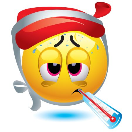 This emoticon is feeling under the weather.