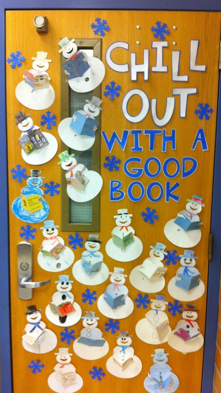 Chill out with a good book door decoration.