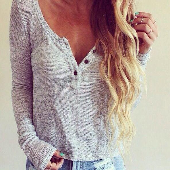 I love long sleeve henleys more than life!!!!!!!!!!!!!!!!!
