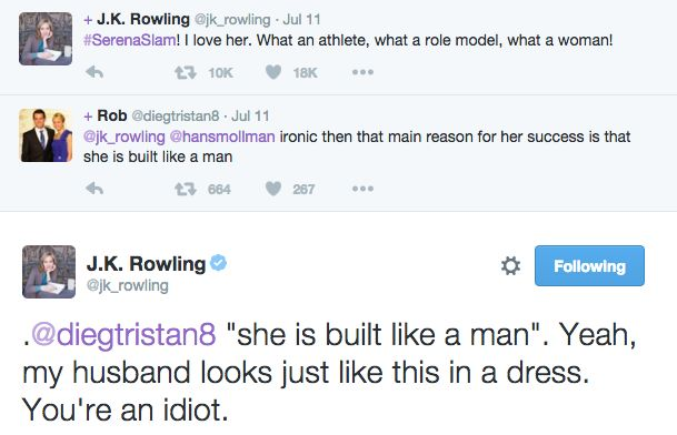 """Jo mastered the use of her Twitter account, reminding the world that even when she's talking about other things, the Harry Potter queen rules all. 