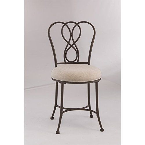 Transitional style. Figure eight design with gentle curves. Cream fabric upholstery. Made from metal. Made in China. Assembly required. Seat height: 19.38 in.. 17.38 in. W x 16.13 in. D x 32.75 in. H (10 lbs.). Lifetime.Hosting Ruby Domain Bundle 6 Lifetime.Hosting Ruby Domain Bundle with 6... more details available at https://furniture.bestselleroutlets.com/bedroom-furniture/vanities-vanity-benches/product-review-for-vanity-stool-in-bronze-finish/