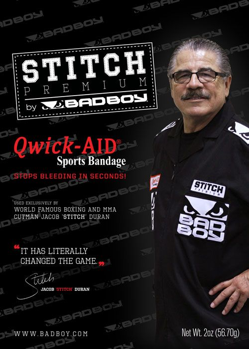 WORLD FAMOUS CUTMAN STITCH DURAN uses Qwick-AID to stop the bleeding!