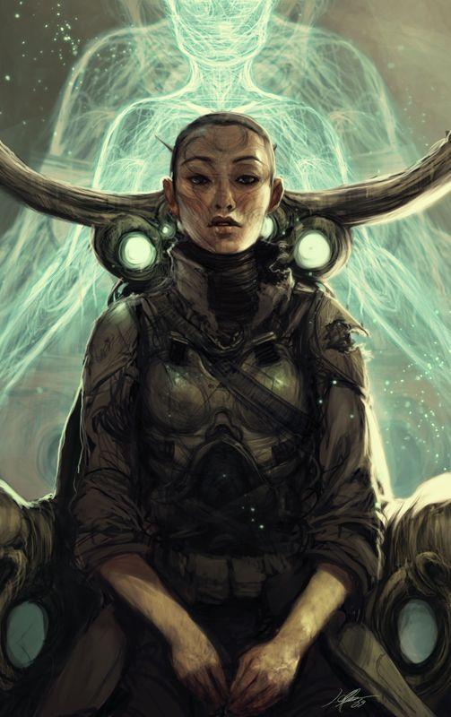 'Generic Sci-Fi: The Pilot' by Jeff Simpson. http://jeffsimpsonkh.deviantart.com/art/Generic-Sci-Fi-The-Pilot-112304576