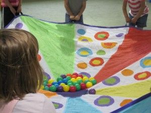 Ideas for parachute play...