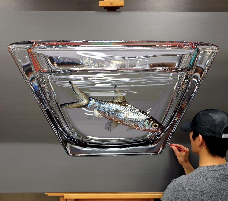 Progress^^ Oil on canvas, 162x112cm #김영성 #극사실 #물고기 #샤크 #현대미술 #aquarium #natgeo #ykim #YoungsungKim #Hyperrealism #oil #painting #drawing #pebeo #contemporaryart #art #handpainted #environment #frog #snail #insect #goldfish #animal #sculpture #museum #artgallery #modernart #silver #bettafish #shark