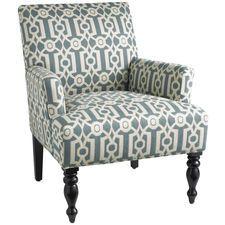Liliana Teal Ironwork Armchair