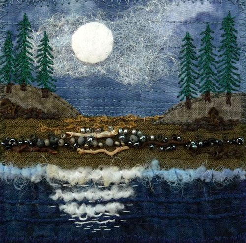 Moonlight 9 by Kirsten's Fabric Art.