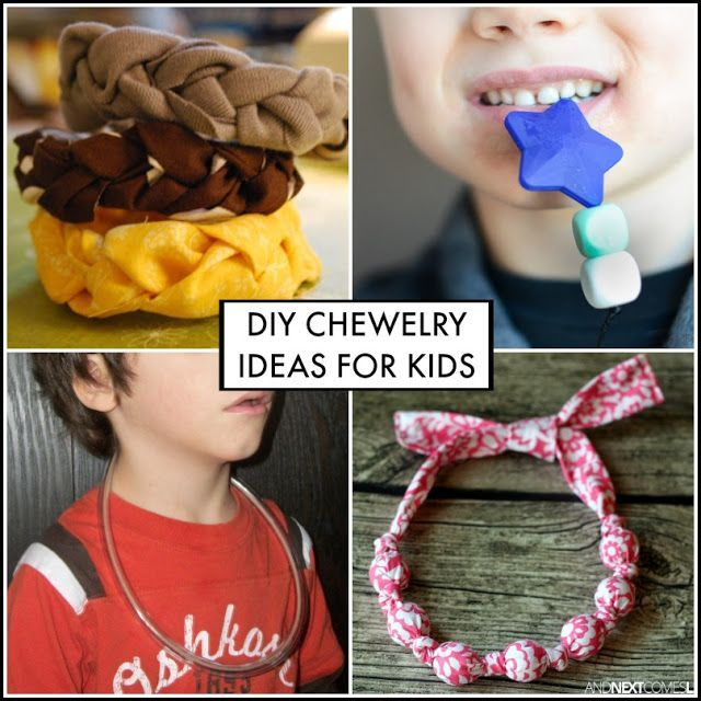 DIY chewelry sensory hacks for kids who chew on everything. Great ideas for kids with autism and/or sensory processing issues from And Next Comes L