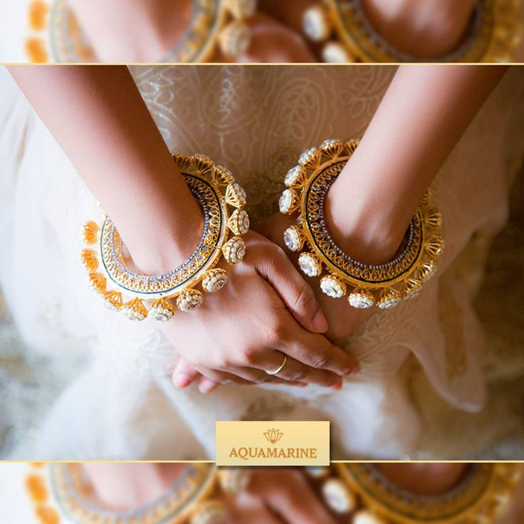 These extravagant bangles are the best accessories to go with your traditional outfit. Beautifully crafted to give the most unique and outstanding look. Buy them at Aquamarine.