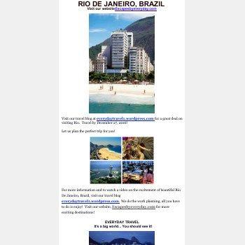 Visit Rio De Janeiro, Brazil - Great Deal
