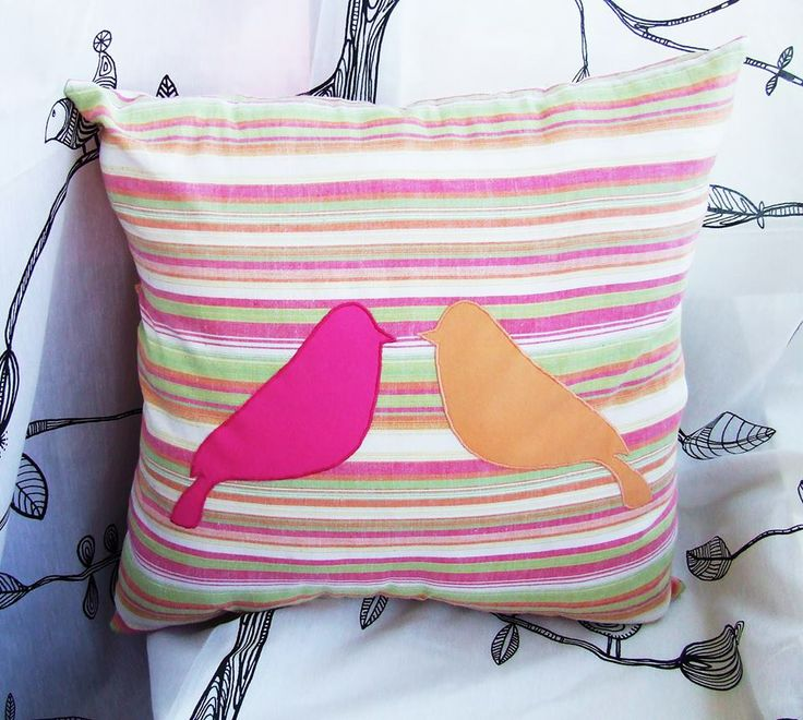 handmade bird pillow