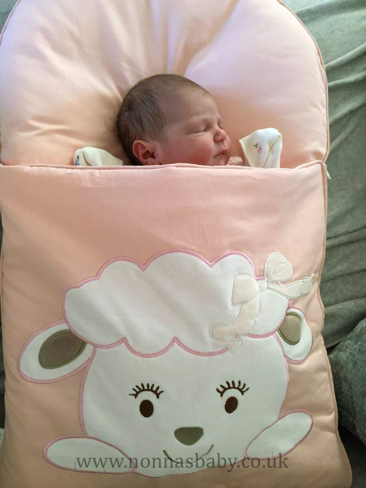 "Sophia is a little cutie-pie, all cosy and comfy in her Cotton Candy Nap Mat. Mummy Hannah said ""Sophia finally arrived 21/12/15 at 4.39 am and loves her nap mat :-). She didn't like her Moses basket as too cold & hard but now with this added in she loves it."" Nonna is thrilled! :-) • Find out more about Nap Mats: https://nonnasbaby.co.uk/baby-nap-mats/"