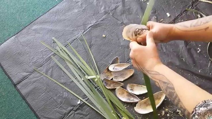 Maori Weaving with Veranoa Hetet : My audition for the right mussel shell