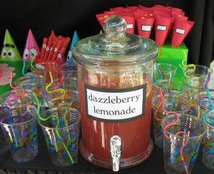 Yo Gabba Gabba Dazzleberry Lemonade: Gabba Parties, Birthday Parties, Dazzleberri Lemonade, 1St Birthday, Yo Gabba Gabba, Parties Ideas, Gabba Birthday, 2Nd Birthday, Birthday Ideas
