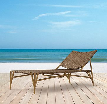 Mulholland Chaise modern outdoor chaise lounges