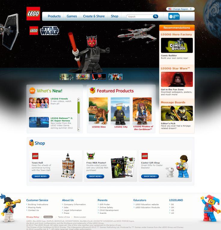 Lego website 2012