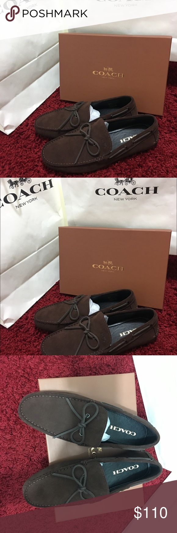 Coach men loafers size 10.5 D Brown New with tag and box 100 % Authantic Coach Coach Shoes Loafers & Slip-Ons