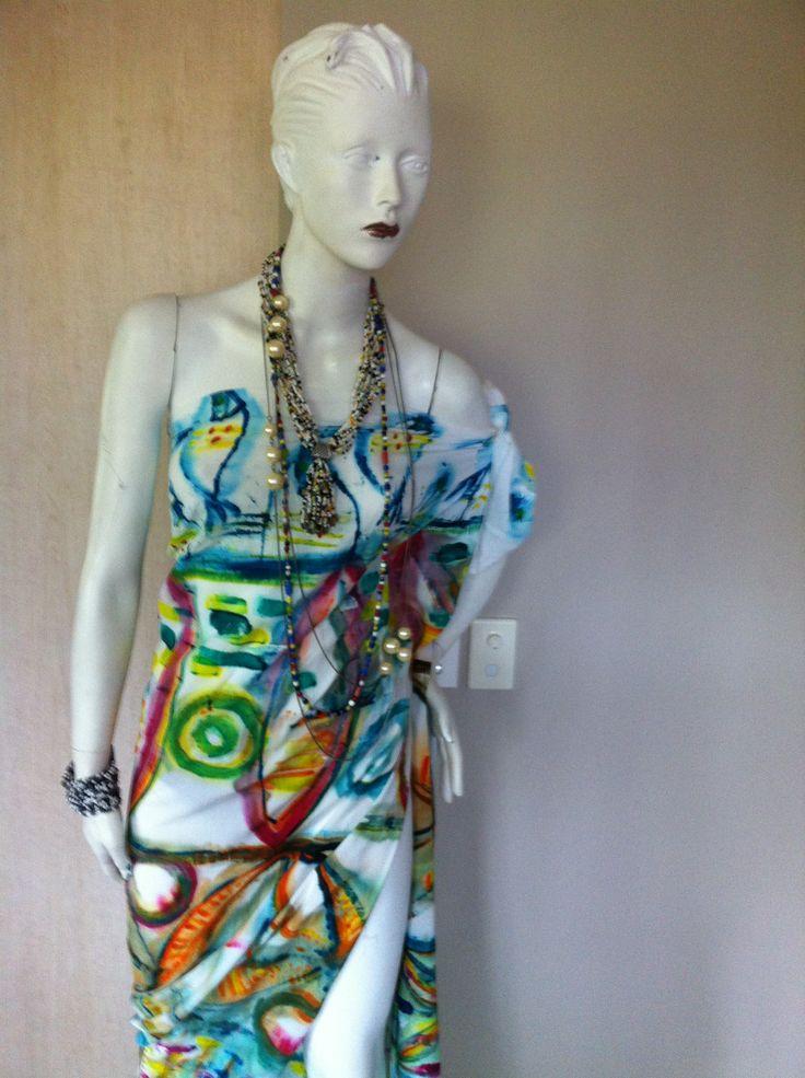 Sarong Dress ( Hand painted )
