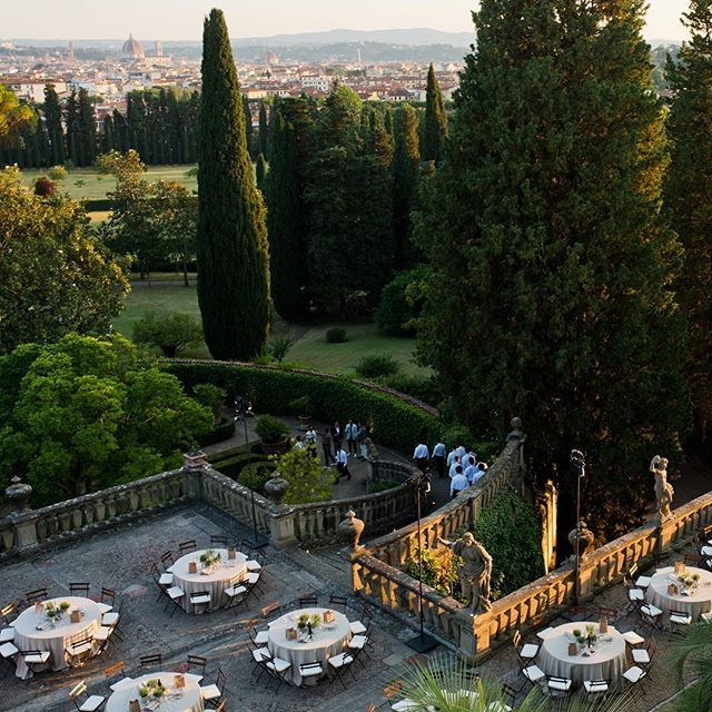 Far removed from the dense center of #Florence is the lush greenery of Villa Palmieri where the Italian designer @BrunelloCucinelli held one of his renowned (and relaxed) dinner parties earlier this summer. For those of you planning an end-of-summer fête of your own Cucinelli has a few tips: keep the food as simple as possible create a menu that follows the season dim the lights relax the dress code and respect the meal as a sacred ritual. (He takes that last one quite seriously  no devices…