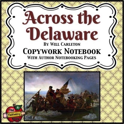 Patriotic Poems: Across the Delaware Copywork Notebook