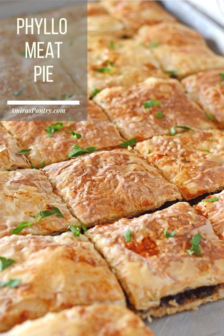 Phyllo Meat Pie Egyptian Goulash Recipe Ground Beef Phyllo Ground Beef Goulash