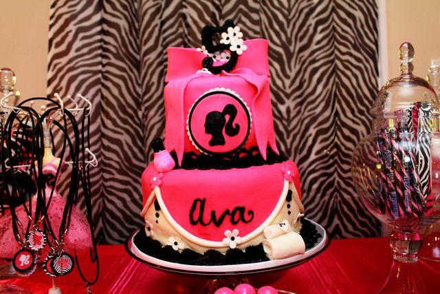 Barbie Party with Zebra Print #barbieparty #zebra