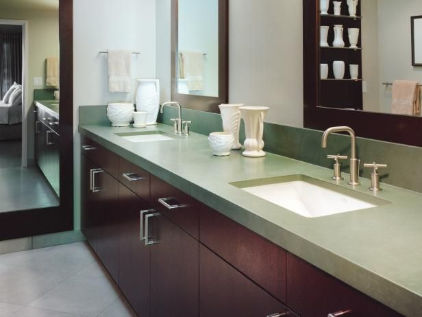 Browse your options for contemporary bathroom vanities, plus check out inspiring pictures from HGTV.com.