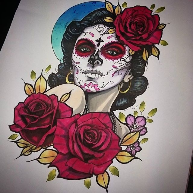 All finished with this design ready to tattoo it soon @steeleandinktattoo #dayofthedeadgirl #dayofthedead #Mexico #tattoo #tattoos #tattooed #tattooing #tattooist #tattooart #tattooartist #thightattoo #roses #rosetattoo #woman #art #design #sketch #illustration #drawing #neotradsub #neotrad #neotraditional #uktattoo #bestofbritishtattoo #uk