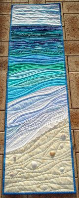 Mumsyblossom's World: By the Sea(quilt pattern by Karen Eckmeier in Skinny Quilts and Tablerunners)
