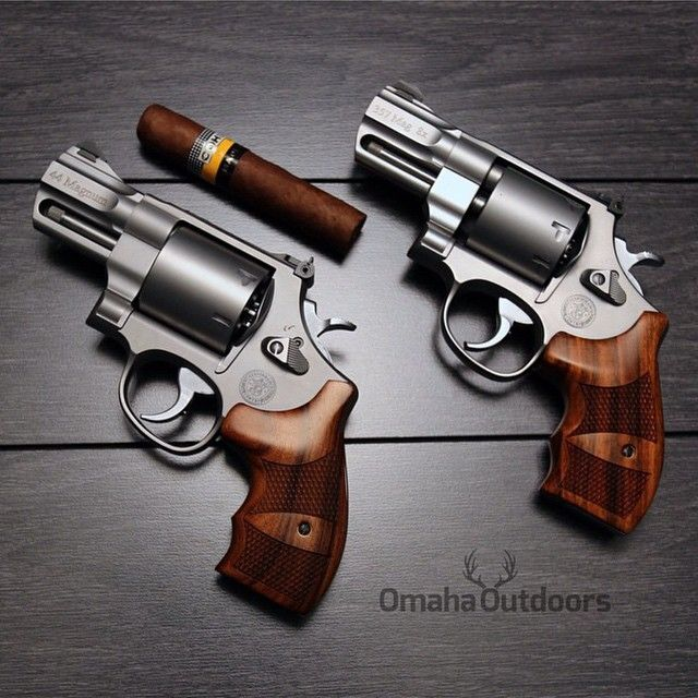 gunfanatics:  Showing some revolver love. Smith & Wesson 627 & 629 Performance Centers. www.facebook.com/OmahaOutdoors —-