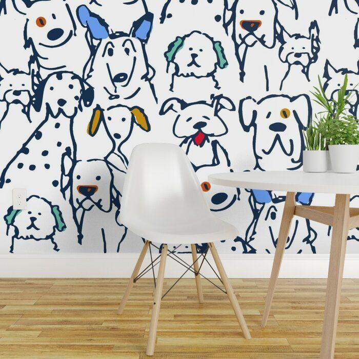 Harriet Bee Gamboa Dog Removable Wallpaper Roll Wayfair Peel And Stick Wallpaper Kids Wallpaper Wallpaper Roll