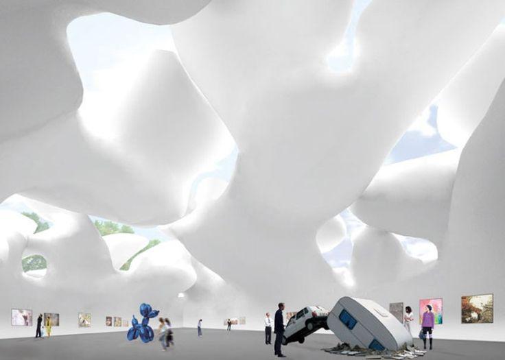 Pleated Sky Museum Akihisa Hirata