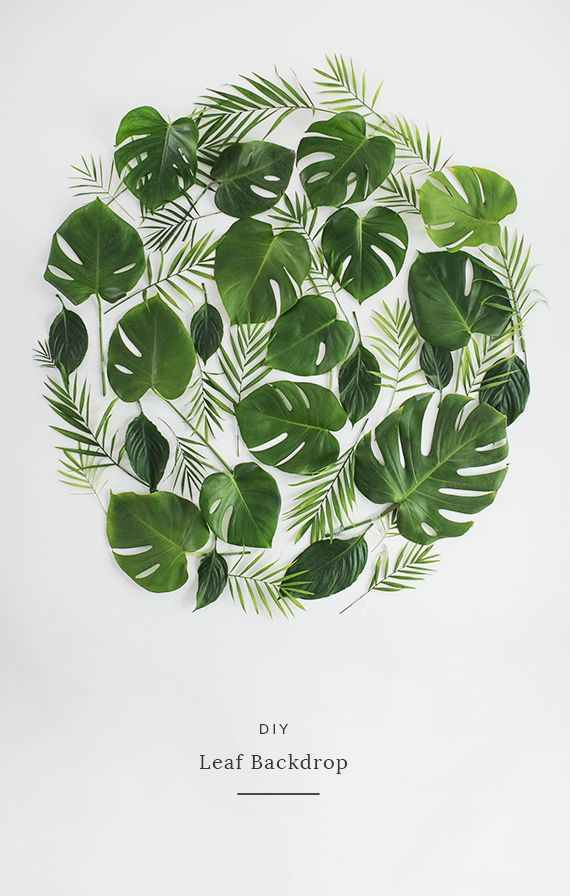 DIY Green Leaf Backdrop #backdrop #diywedding http://www.howtodiywedding.com/ #weddingtrends #leafwedding #2018wedding