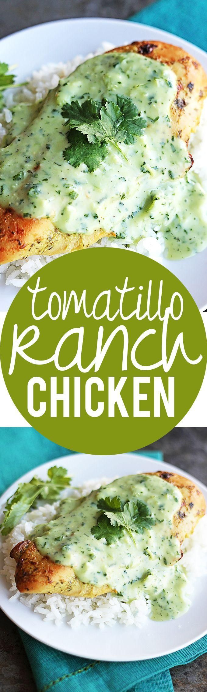 Tomatilla Ranch Chicken | Creme de la Crumb