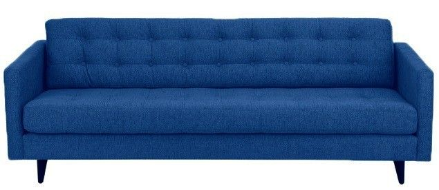 Prague+Sofa+-+3+pers+-+Blå+-+Sofa+i+frisk+blå+farve,+der+giver+en+lækkert+modspil+til+det+retrodesign.+Prague+sofa+har+flotte+trykknapper,+der+giver+et+elegant+udtryk+i+stuen.