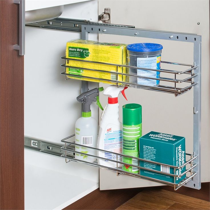 REstored 300mm 2 Tier Chrome Undersink Pullout I/N 2666444 | Bunnings Warehouse