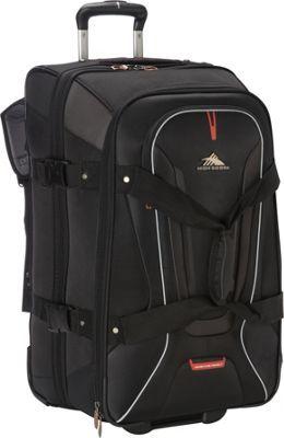High Sierra AT7 26 inch Wheeled Duffel with Backpack Straps Black - via eBags.com!