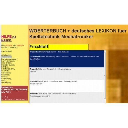 Neuveroeffentlichung 2018: Kaeltetechnik: deutsch-englisch Woerterbuch + Lexikon