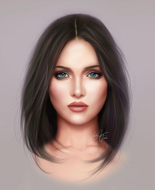 Face Study by Selphia.deviantart.com on @deviantART
