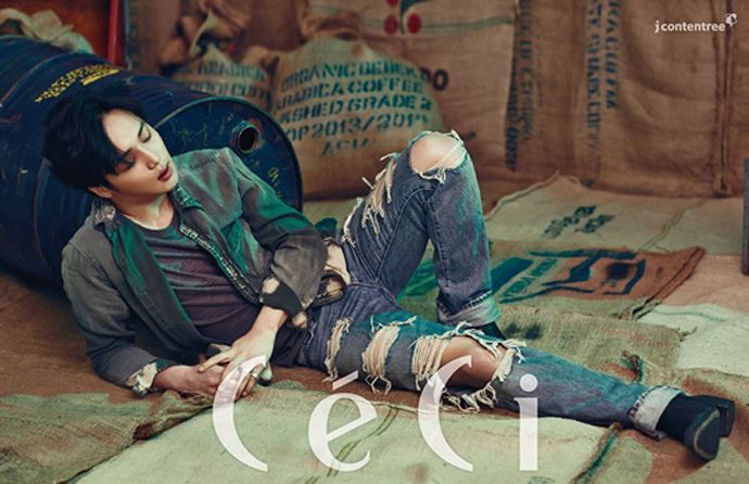 Byun Yo Han Is A Modern James Dean For CéCi's April 2015 Issue | Couch Kimchi