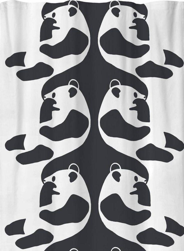 Sivuverho Ajatus 140x250 cm mustavalkoinen