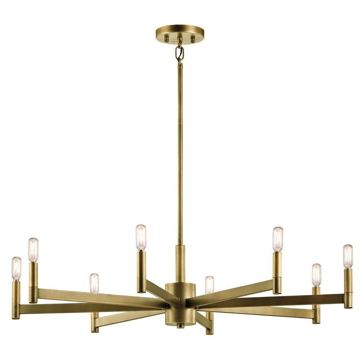 Kichler Lighting Erzo Collection 8-light Natural Brass Chandelier, Gold (Steel)
