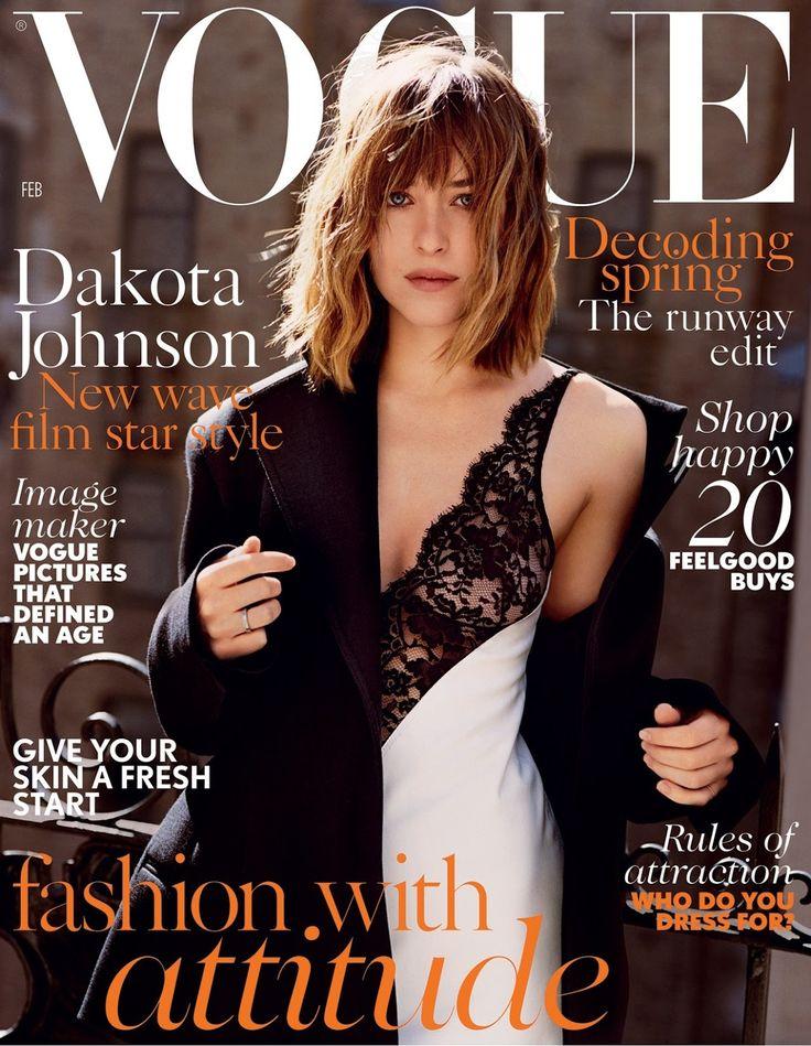 Beauty Mags: Dakota Johnson | Vogue UK February 2016