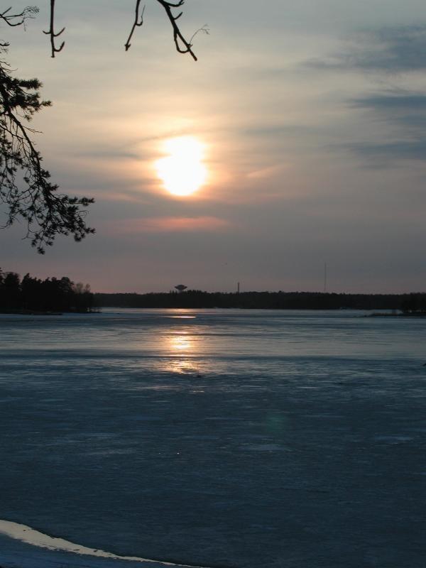Frozen sea, Helsinki, Finland