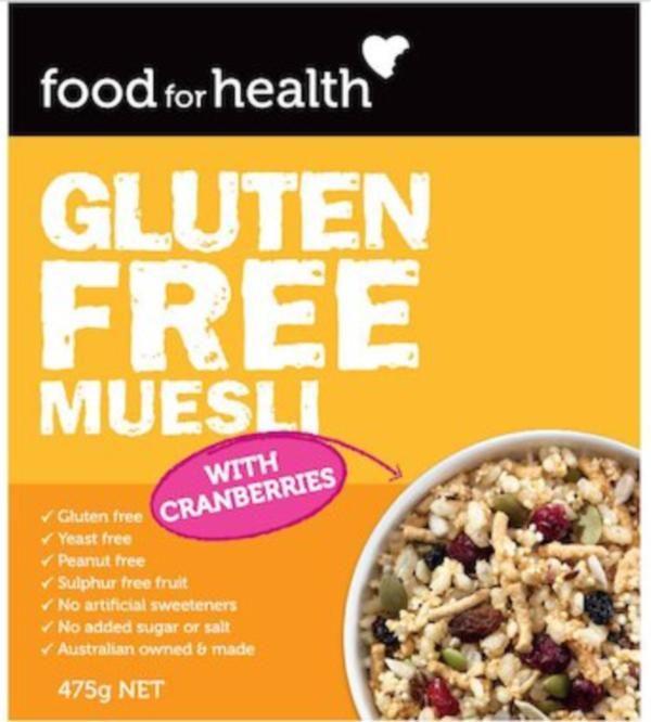 Food for Health Gluten Free Muesli - endorsed by Coeliac Australia