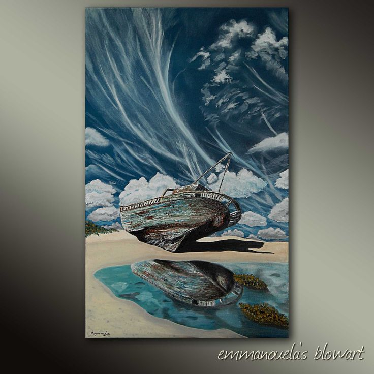 Eternity and a dream-Original art seascape oil painting on canvas by EMMANOUELA-Size:60x100cm (23,6''x39.4'') by Blowart on Etsy