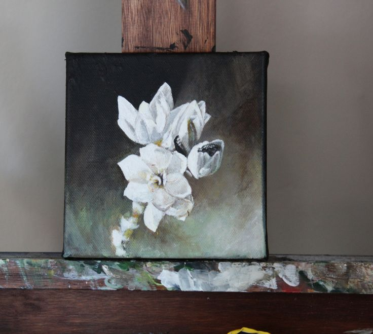 new blog post featuring some new paintings by Jodi Hugo:  'And here I am. Still painting flowers.'